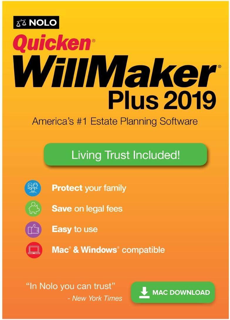 Quicken WillMaker Plus 2019 & Living Trust [Mac Download]