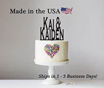 wedding cake topper with free keepsake base names engagement party bridal shower