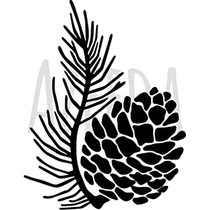 amazon com a5 pine cone wall stencil template ws00019852