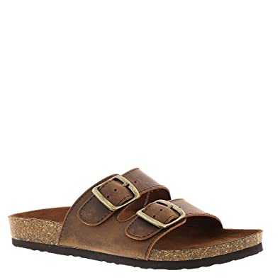 White Mountain Helga Footbed Sandal Brown Leather J21k7409