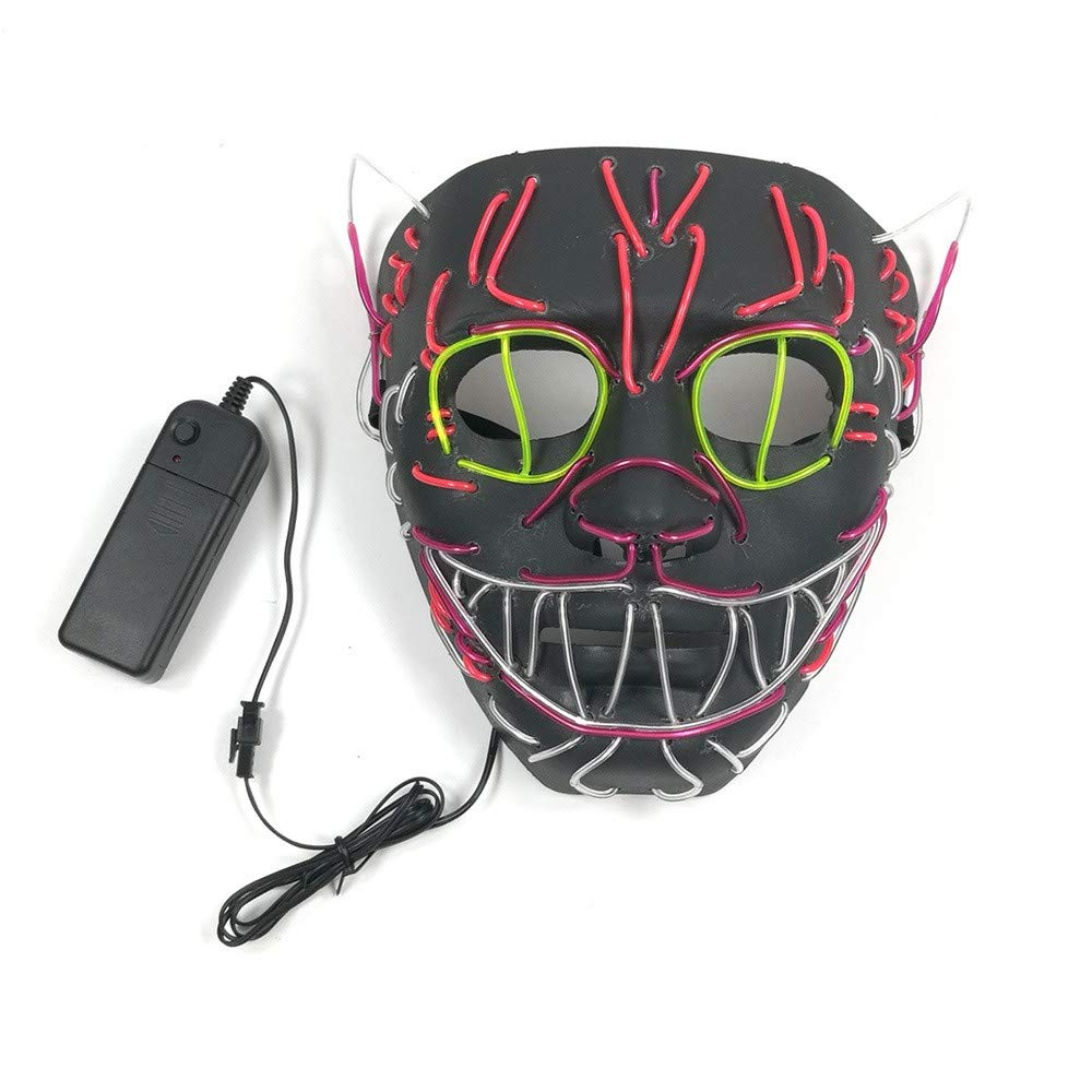 YUYOUG 2018 Halloween Mask Led Novelty, Halloween Night Mask Full Face Colorful LED Masks Dance Rave Glow Scary Mask Light Up Cosplay Mask, Festival Party Cosplay LED Light Up Mask