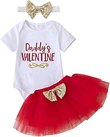 US Baby Girl Boy Valentine/'s Day Big Love For Mama Romper Overall Outfit Clothes