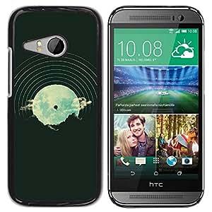 PC/Aluminum Funda Carcasa protectora para HTC ONE MINI 2 / M8 MINI Dj Music Vinyl Disk Vignette Hipster / JUSTGO PHONE PROTECTOR