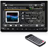 Pyle PLDN74BT Headunit Receiver 7-Inch Stereo Radio, Bluetooth, CD/DVD Player, Touch Screen, Double DIN