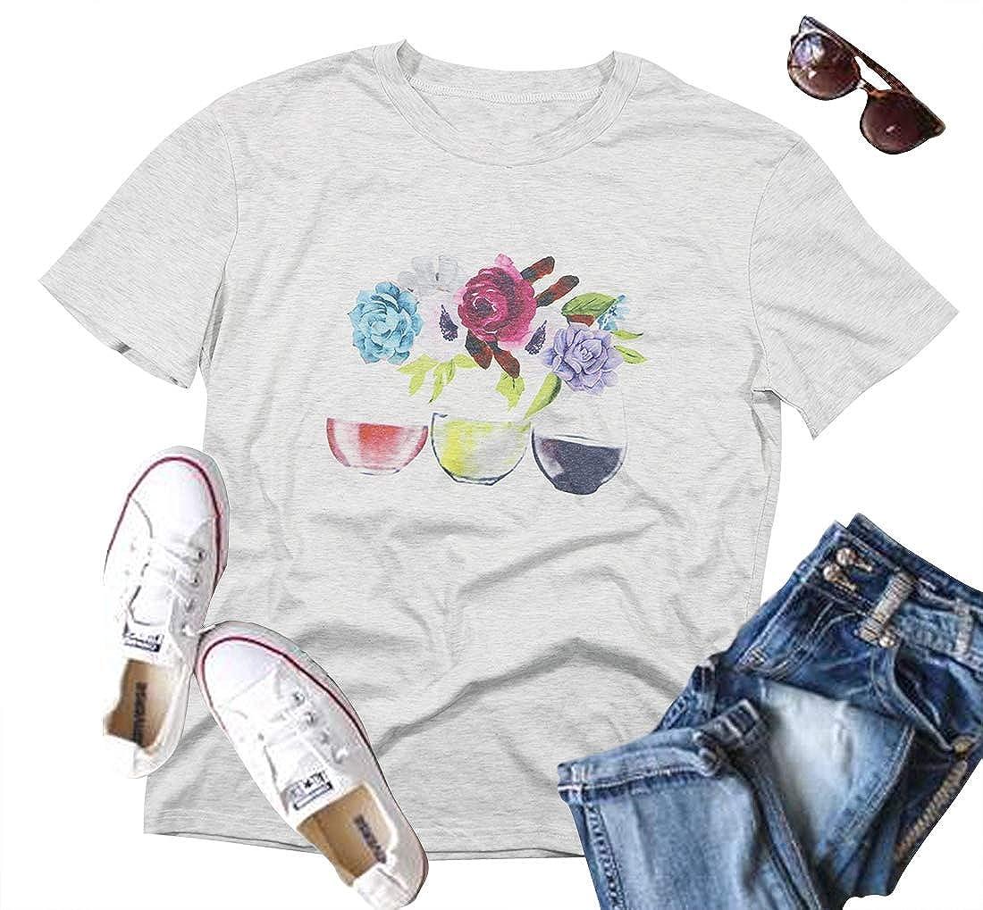Amazon.com: Camiseta de manga corta para mujer, diseño ...
