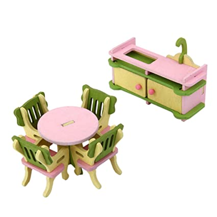 where to buy miniature furniture. Fine Miniature Magideal Dollhouse Miniature Furniture Wooden Toy Kids Dinning Room Set On Where To Buy T