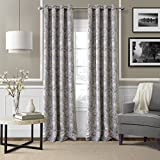 Elrene Home Fashions 026865854381 Blackout Room Darkening Grommet Window Curtain Drape Panel, 52″ x 95″, Blue For Sale