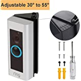 Adjustable Ring Video Doorbell Pro Angle Mount ((30 to 55 degree), CAVN Angle Adapter Mounting Plate Bracket Wedge Corner Kit for Ring Video Doorbell Pro ( Released in 2016), Black