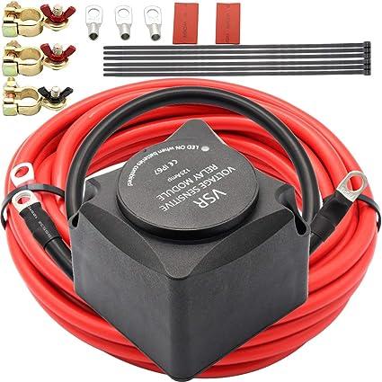 Wondrous Amazon Com Carrfan Dual Battery Smart Isolator 12V 140A Voltage Wiring 101 Mentrastrewellnesstrialsorg