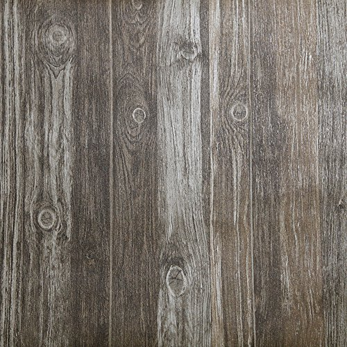FANFEI Self-Adhesive Wood Wallpaper, Dark Wood Pattern Peel and Stick Removable Wall Sticker, 21.3inches x 16.4 feet (Dark wood) by FANFEI (Image #6)