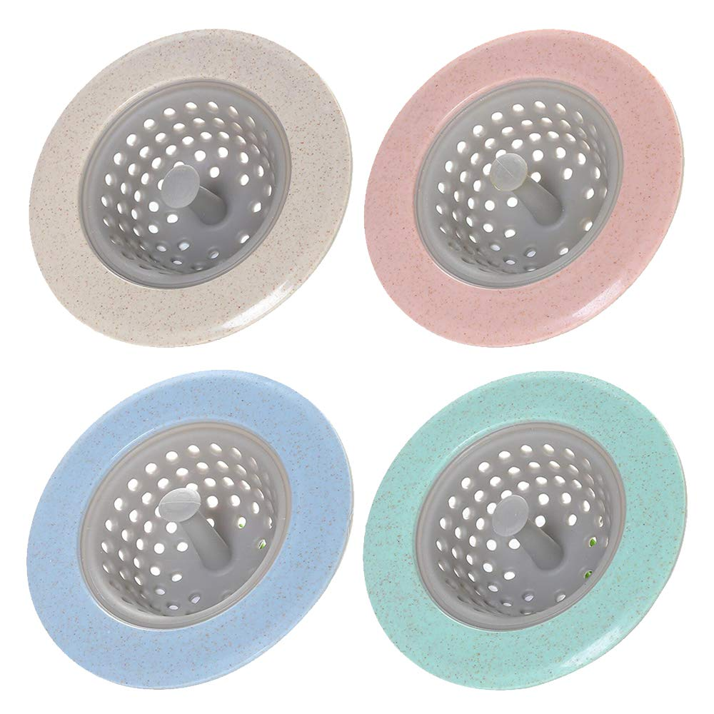 Amaoma 4 Pcs Silicone Drain Cover Kitchen Sink Strainer Hair Catcher Bathroom Shower Drain Stoppers Hair Filter Sink Bathroom Sink Filter Pink Green Blue Beige Buy Online In Antigua And Barbuda At