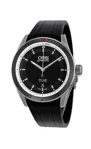 Oris Artix GT Day Date Black Dial Automatic Rubber Strap Mens Watch 735-7662-4154RS