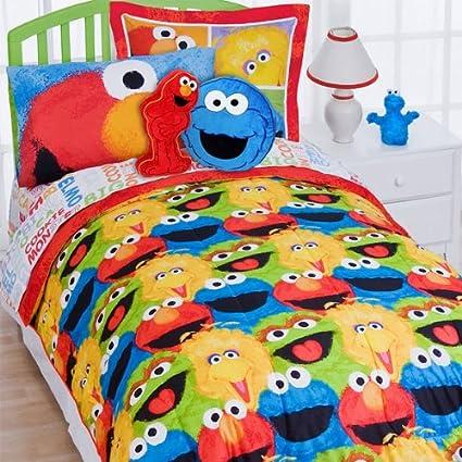 Incroyable 7pc Sesame Street Full Bedding Set Elmo Chalk Comforter Sheet Set And  Pillow Shams