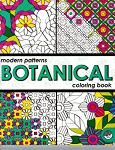 Botanical Modern Patterns Coloring Book by Mindware