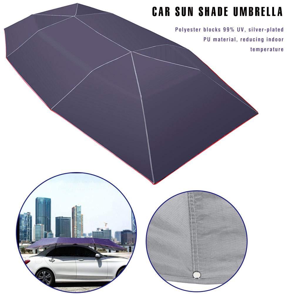 LeKing Paraguas de Coche Toldo Carpa Sombrilla de Coche Sombrilla para el Sol