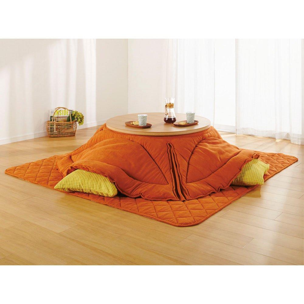 【6長方形超特大】210×320cm ふっくら贅沢ボリューム省スペースこたつ掛け布団 627490(サイズはありません キ:オレンジ(WEB))  キ:オレンジ(WEB) B07HY15H8H