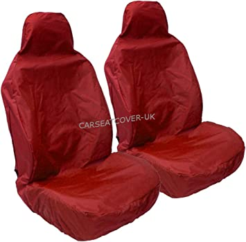 For Vauxhall Zafira B 2 x Fronts Heavy Duty Black Pair Waterproof Car Front Seat Covers Protectors