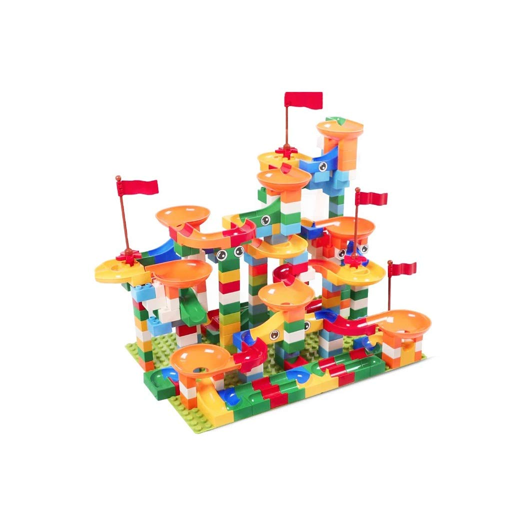 LIUFS-TOY Children's Toy Building Blocks Track Assembly Slide Early Educational Large Particles 3-8 Years Old Gift (Size : 296 Pieces)
