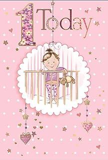 Age 1 Girl Birthday Card