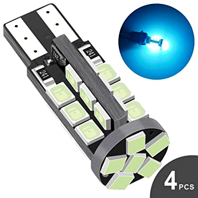 Audak 194 LED Bulb Ice blue Super Bright 168 2825 W5W T10 Wedge 30-SMD 2835 Chipsets Error Free for Car Interior Dome Map Door Courtesy License Plate Lights (Pack of 4): Automotive
