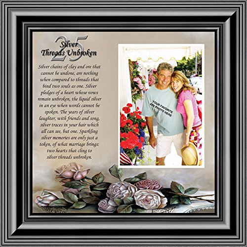 Silver Threads Unbroken, Personalized 25 Anniversary Picture Frame, 10x10 6778B by Personally Yours