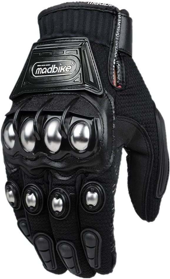 XXL Madbike Glove Motorcycle Racing Motorbike Gloves Alloy Steel Protection
