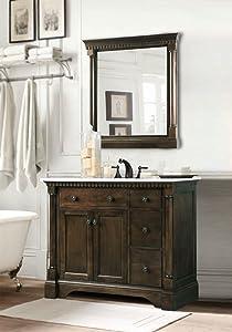 "Legion Furniture Bathroom Mirror, 24"", Coffee Bean"