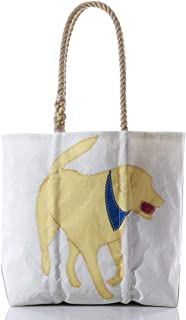 product image for Sea Bags Recycled Sail Cloth Yellow Lab Tote Medium