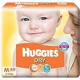 Huggies New Dry Diapers, Medium (Pack of 60)