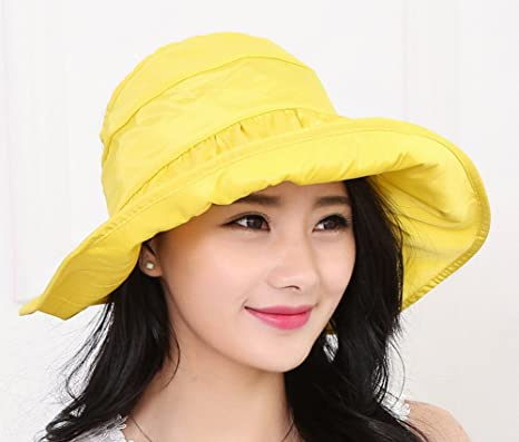 gudelaa 2016 Fashion sombreros de verano Mujeres Dama Casual algodón  sombreros de Brimmed Sun Hat Tide 08f21189ad6