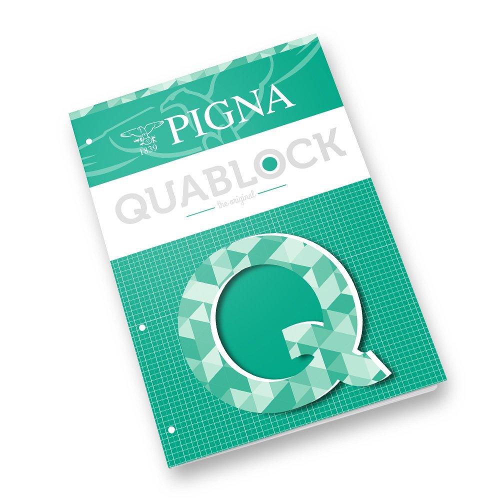 5 pezzi Pigna Quablock A4 Quaderni a Quadretti