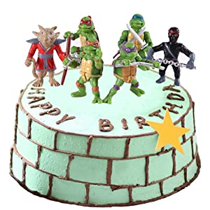 Teenage Mutant Ninja Turtles 6 Pcs Cake Topper Teenage Mutant Ninja Turtles Birthday Cake Topper/Leo/Raph/Mike/Don /Personalized Custom Customized Birthday Party