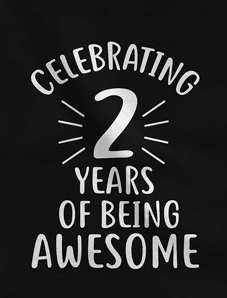 2 Years of Being Awesome 2nd Birthday 3//4 Sleeve Baseball Jersey Toddler Shirt