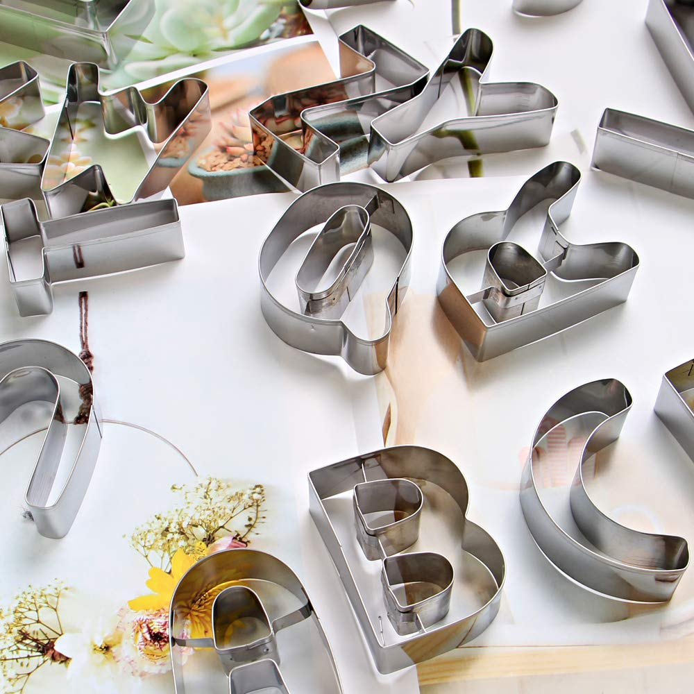 ShengHai 26-Piece Large Alphabet Cookie Cutter Set (A - Z), Stainless Steel Decorating Tools Letters Fondant Cutter by ShengHai (Image #2)