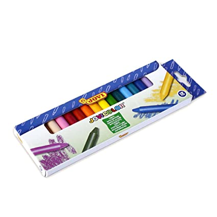 Amazon.com : ESTUCHE 18 CERAS COLORES JOVICOLOR : Office ...