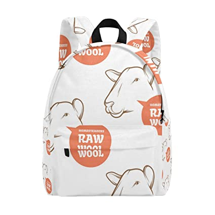 Image Unavailable. Image not available for. Color  Idubbbz Sheep Hoodie  Student Backpack Laptop School eb3219e0737d6
