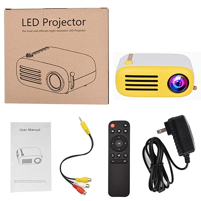 T ECH Proyector WiFi para Niños, Proyector Doméstico Micro 1080P ...