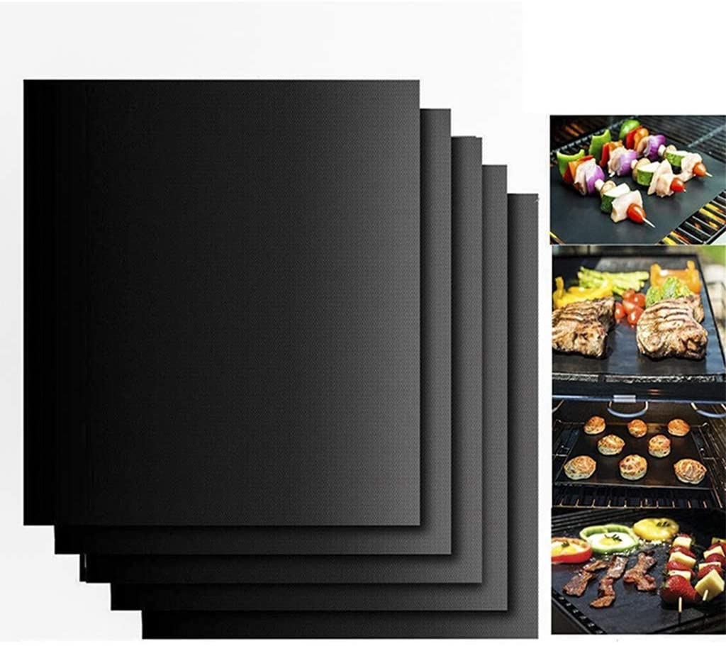 Kenrtuers Grill Mat Set of 10 Non Stick Oven Liner Teflon Cooking Mats, Reusable and Easy to Clean, Perfect for Baking on Gas Charcoal,Oven and Electric Grill,