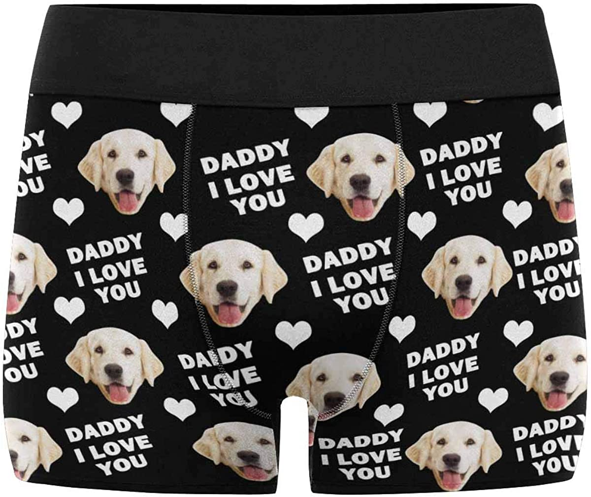 Custom Wife Face on Love Heart Valentines Day Funny Boxer Shorts Novelty Briefs Underpants Printed with Photo