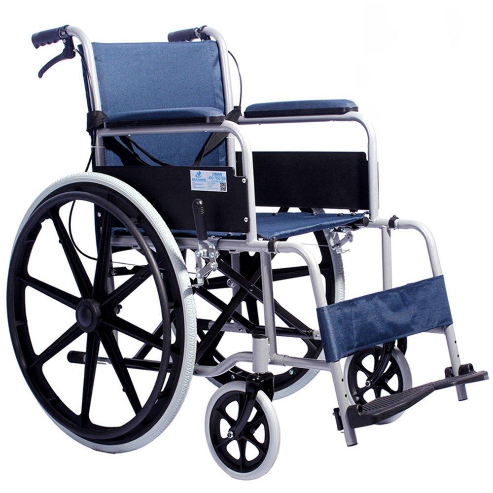 QFFL 車いす高齢者スチール折りたたみ式折りたたみ式椅子障害のあるスクーター小型車いす80 * 26 * 89.5cm 松葉杖ウォーカー B07B2NB24Z