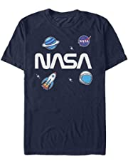 Zooge NASA Logo Space Emoji Men's ComfortSoft Short Funny T-Shirt