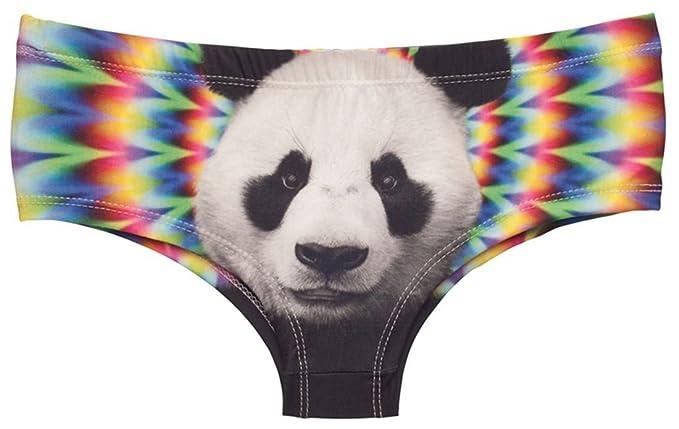 Kukubird Ácido Panda diseño Arco Iris impresión Bragas Ropa Interior