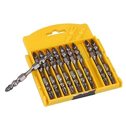 cnbtr 10pcs 65 mm carbono acero herramienta destornillador PH2 doble ...