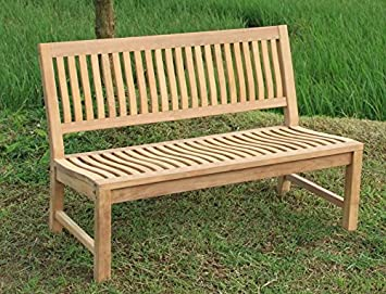 Gartenbank holz ohne lehne  Amazon.de: Stabile Gartenbank Kingsbury in Premium Teak ohne ...