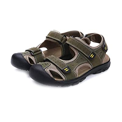 Asifn Men Outdoor Hiking Sandals Breathable Athletic Climbing Summer Beach Shoes Mens Closed Toe Sport Sandal | Slippers