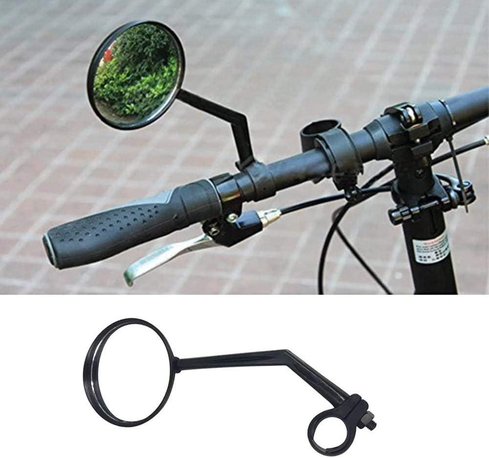 Espejo Universal Izquierdo y Derecho para Bicicleta de monta/ña//ciclomotor QoFina Conjunto de 1 Espejos para Manillar de Bicicleta Espejo retrovisor de Bicicleta Espejo Giratorio de 360 /°