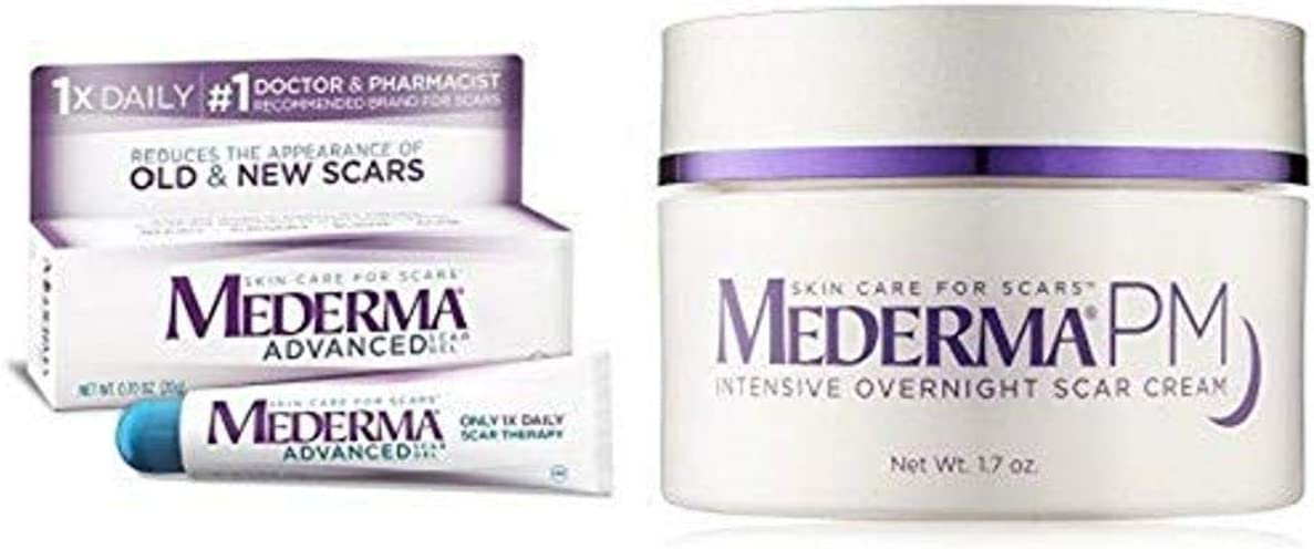 Amazon Com Mederma Advanced Scar Gel With Pm Intensive Overnight