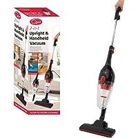 Quest 44830 Vacuum Cleaner 2-in-1 Upright & Handheld, Corded, HEPA Filter, Lightweight & Bagless Design, Black