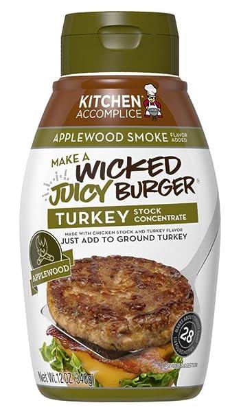 kitchen accomplice wicked juicy turkey burger applewood smoke 12 ounce