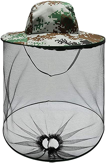 Mosquito Bug Insect Hat Head Net Mesh Bee Face Fishing Camping Neck Protect Hat